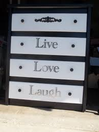 Black Dresser 4 Drawer by Beautifully Painted Black And White 4 Drawer Dresser Live Laugh
