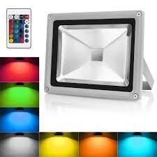 Warmoon LED Flood Light 10W RGBW Outdoor Spotlight IP65 Waterproof