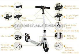 Good Quality Big 200mm Wheel Foot Kick Scooter For Adult View Big