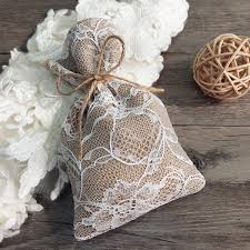 Drawstring Lace Burlap Wedding Gift Bags EWFB064 2 1