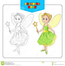 Little Girl In Carnival Costume Fairy Coloring Book