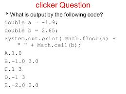 topic 10 return values math methods based on slides bu marty