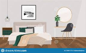 gemütliches schlafzimmer in beige geräuschen mit einem