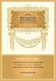 Stock Vector Of Wedding Invitation Card Abstract Background Vintage Frame And Banner