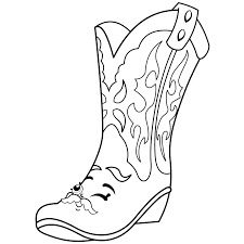 Cool Shopkins Betty Boot Limited Edition Coloring Page