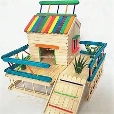 Ice Cream Sticks House Idea