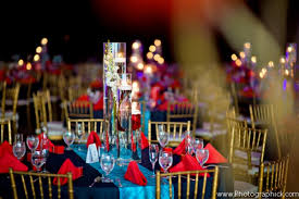 Red And Blue Wedding Reception Decorations Indian Decoration Ideas For A