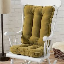 Indoor Rocking Chair Covers by Amazon Com Greendale Home Fashions Standard Rocking Chair Cushion