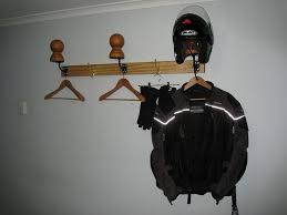 DIY Garage Gear And Helmet Rack