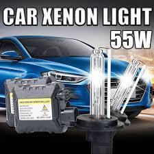 55w h1 xenon hid kit slim ballast h1 4300k 5000k 6000k 8000k
