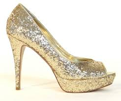 women u0027s guess gaby gale glitter gold peep toe platform heels pumps