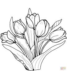 Tulipe 148 Nature Coloriages à Imprimer