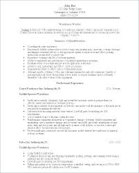 Production Worker Resume Sample Combined With Here Are Warehouse Example For