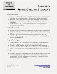 Resume Objective Example Entry Level Statement Examples Of Objectives For Resumes At