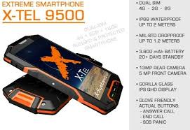 X Tel 9500 e of the most robust and durable smartphones in the