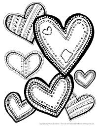 Hearts Coloring Page Download Free Printable