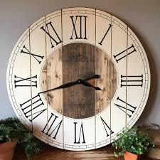 32 Inch Farmhouse Clock Rustic Wall Clock Wall Clock