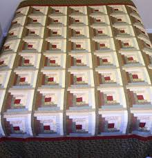 A log cabin quilt the fastest and easiest to create and