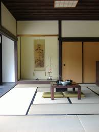 Dining RoomExcellent Japanese Room Design With Square Brown Table And Wooden Sliding