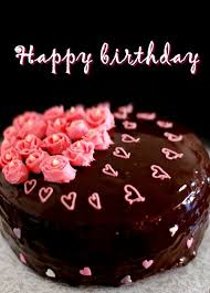 Birthday Cake Wishes Chocolate Birthday Cake Wish You A Happy Birthday With Dark Brown Color Cake