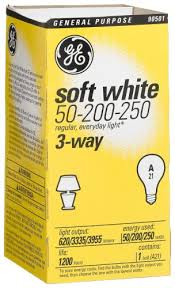 ge lighting 56948300 3 way 50 200 250 soft white light bulb