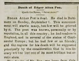 Rufus Griswold Wrote An Obituary About Edgar Allan Poe Which Was Extremely Unflattering Signing It Ludwig Did Not Fool Poes Friends Who