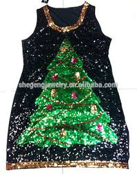 Christmas Tree Sequin Dress