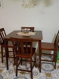 mainstays 5 piece counter height dining set cherry walmart com