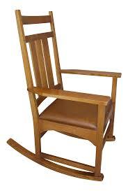 Stickley Rocking Chair Plans by Modern Stickley Mission Oak Rocking Chair Chairish