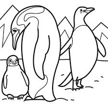 The Life Of Penguins In Antarctica Coloring Pages