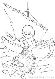 Coloring Pictures Of Fishermen Fishers Men Page Free Pages Fisher Man