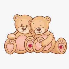 Cartoon Papa Bear And Mama Lovely PNG Vector
