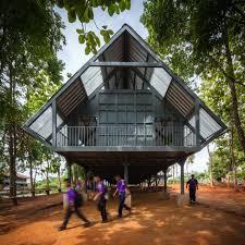 100 Thai Modern House Earthquakeresistant School On Stilts By Vin Varavarn Architects