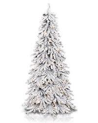 75 Flocked Slim Christmas Tree by Slim And Pencil Artificial Christmas Trees Treetopia
