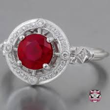 deco ruby and ring ruby engagement rings antique wedding promise