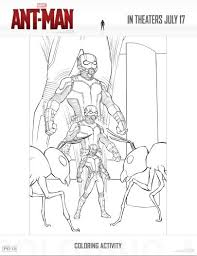 Ant Man Activities And Coloring Pages
