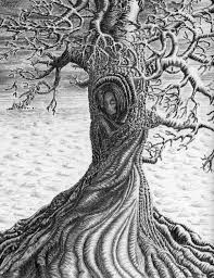 Wuthering Heights Drawing Abstract Art Print Pencil Tree Gift For Wife Giclee
