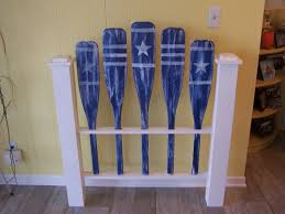 Decorative Oars And Paddles Canada by Nautical Twin Headboard Custom Free Shipping Cottage