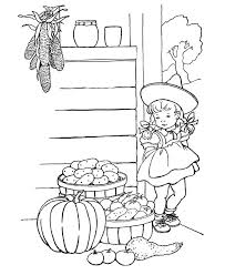 Kid Thanksgiving Coloring Book Pages