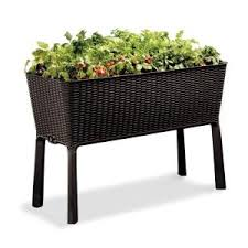Gronomics Raised Garden Bed by Gronomics 24 In X 48 In X 32 In 9 In D Rustic Elevated