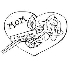 Bold Idea I Love My Mommy Coloring Pages Mom