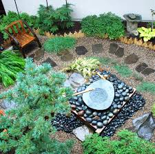 gravel garden features bamboo for height and color balcony garden