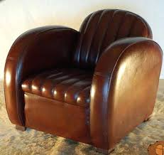 1930s Furniture Styles Art Armchair Brown Leather Dining Room