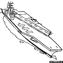 USS Nimitz Aircraft Carrier Coloring Page