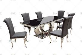 China Classic Black And White Polished Steel Base And Black ... Details About Set Of 5 Pcs Ding Table 4 Chairs Fniture Metal Glass Kitchen Room Breakfast 315 X 63 Rectangular Silver Indoor Outdoor 6 Stack By Flash Tarvola Black A 16 Liam 1 Tephra Alba Square Clear With Ashley 3025 60 Metalwood Hub Emsimply Bara 16m Walnut Signature Design By Besteneer With Magnificent And Ding Table Glass Overstock Alex Grey Counter Height