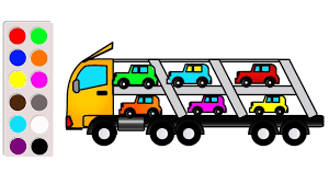 Learn Colors With Car Carrier Truck Coloring Book, Super Coloring ... 2000 Kenworth W900b Car Carrier Truck For Sale Auction Or Lease Toy Transport For Boys And Girls Age 3 10 Semi Matchbox Large 18 Learn Colors With Car Carrier Truck Coloring Book Super Megatoybrand Hauler Transporter 6 Cars Wvol Military Kids Includes Long 28 Slots Friction Powered 3d Free Download Of Android Version M Trailer With On Bunk Platform Empty Intended To Deliver New Auto Batches Stock