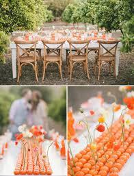 Orange Table Runner Centerpiece