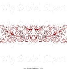 Red Wedding Borders Clipart