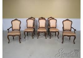 Set Of 8 KARGES French Louis XIV Walnut Dining Room Chairs