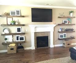 Floating Fireplace Mantels White Shelves